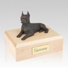 Boston Terrier Bronze Large Dog Urn