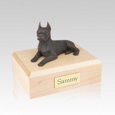 Boston Terrier Bronze Medium Dog Urn