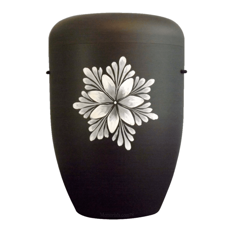 White Bloom Biodegradable Urn