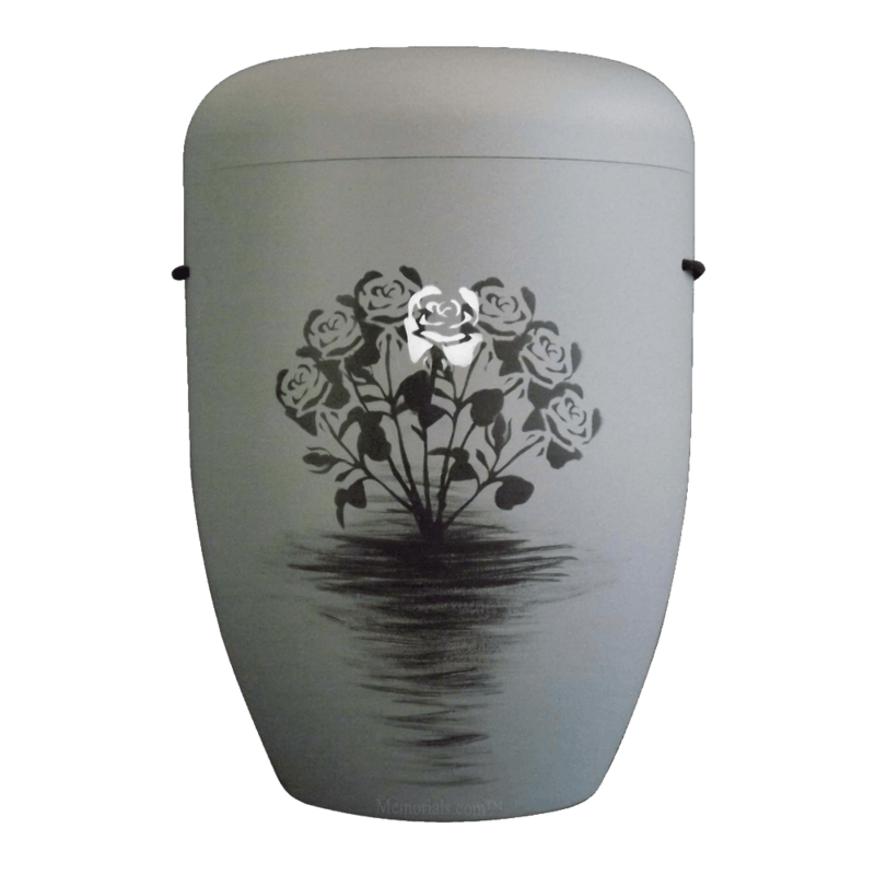 Black Roses Biodegradable Urn