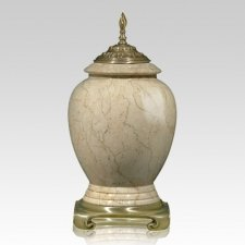 Botticino Gold Tone Marble Cremation Urn