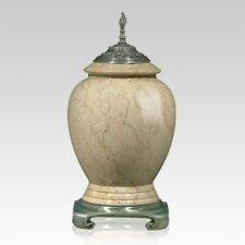 Botticino Pewter Marble Urn