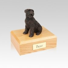 Bouvier Bronze Small Dog Urn