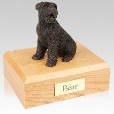 Bouvier Bronze Dog Urns
