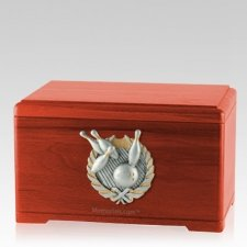 Bowling Fan Cherry Cremation Urn