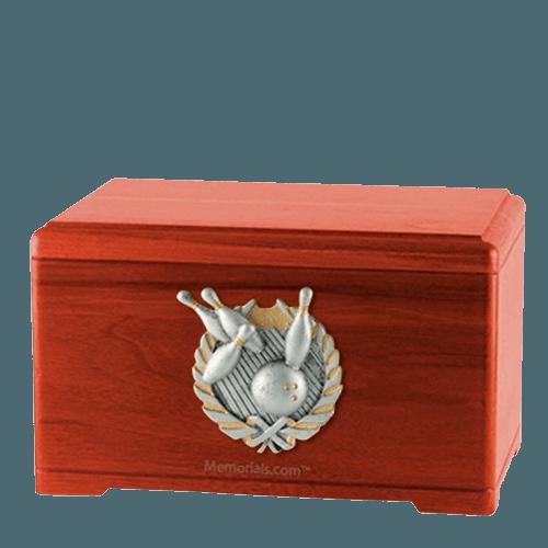 Bowling Fan Cherry Cremation Urn