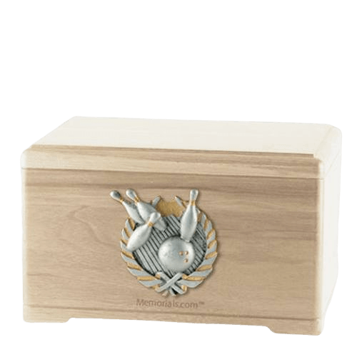 Bowling Fan Maple Cremation Urn