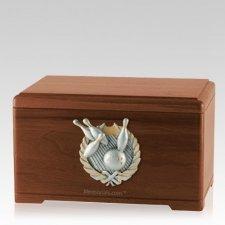 Bowling Fan Walnut Cremation Urn