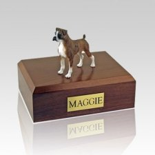 Boxer Brindle Ears Down Dog Urns