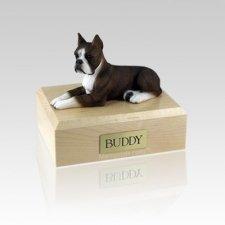 Boxer Brindle Medium Dog Urn