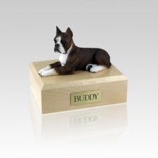 Boxer Brindle Small Dog Urn