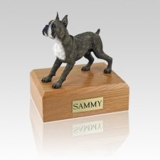 Boxer Brindle Standing Large Dog Urn