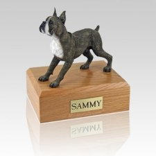 Boxer Brindle Standing Dog Urns