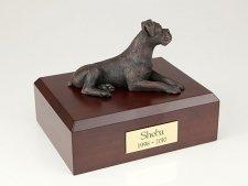 Boxer Bronze Ears Down Medium Dog Urn