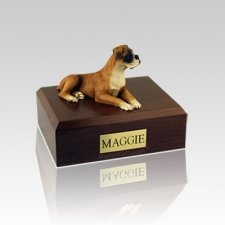Boxer Ears Down Medium Dog Urn