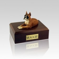 Boxer Ears Up Medium Dog Urn