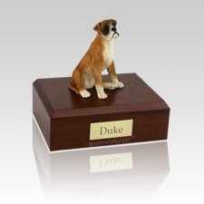Boxer Medium Dog Urn