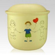 Boy Balloon Child Urn