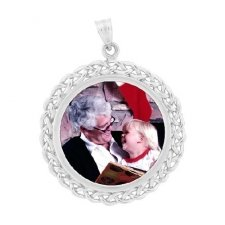 Braided Silver Photo Jewelry