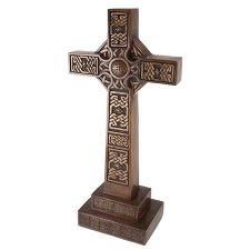 Brass Celtic Memorial Cross