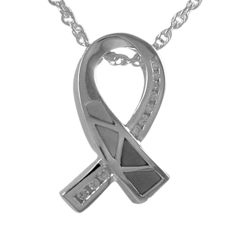 Breast Cancer Ribbon Cremation Pendant