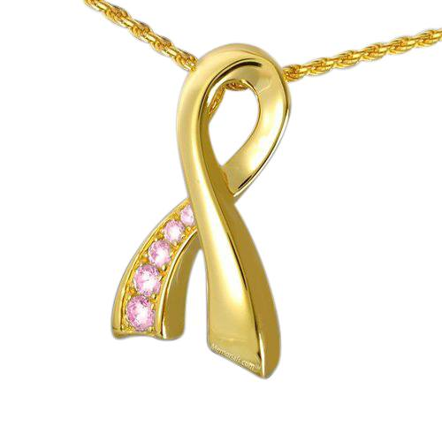 Breast Cancer Cremation Pendant IV