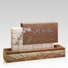 Brickwork Companion Granite Headstone