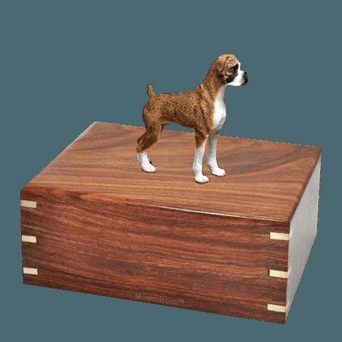 Brindle Boxer Large Doggy Urn