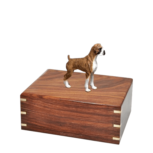 Brindle Boxer Small Doggy Urn