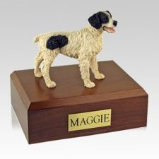 Brittany Black Large Dog Urn