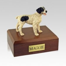 Brittany Black Medium Dog Urn