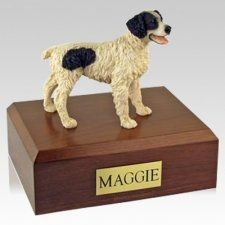 Brittany Black X Large Dog Urn