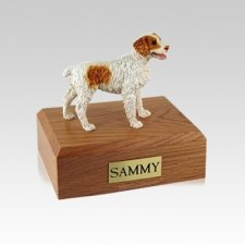 Brittany Brown Small Dog Urn