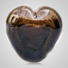 Bronze Cremation Ash Glass Heart
