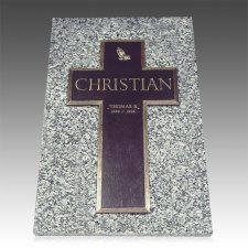 Bronze Cross Ledger Grave Marker