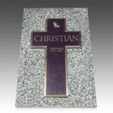 Bronze Cross Ledger Grave Marker