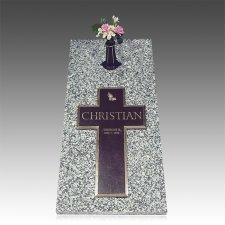 Bronze Cross Ledger Individual Grave Marker