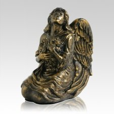 Bronze Serenity Angel Keepsake Urn