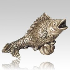 Garden Fish Bronze Cremation Urn