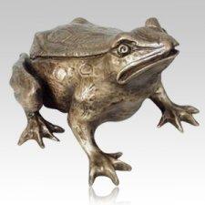 Garden Frog Bronze Cremation Urn