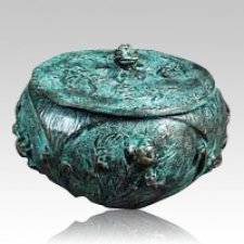 Garden Vessel Patina Bronze Urn