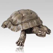 Garden Turtle Bronze Cremation Urns