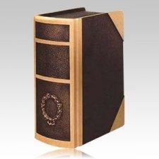 Manuscript Book Bronze Cremation Urn