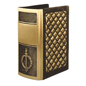 Quilted Book Bronze Cremation Urn
