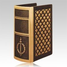 Torch & Wreath Book Cremation Urn