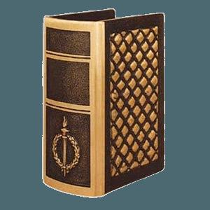 Torch & Wreath Book Cremation Urn