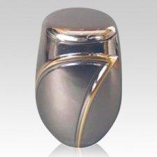 Silver Wave Cremation Urn
