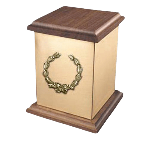 Yukon Wreath Bronze Cremation Urn
