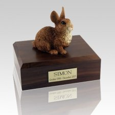 Brown & White Rabbit Cremation Urns