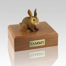 Brown Large Rabbit Cremation Urn